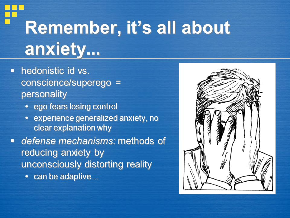 Remember, it's all about anxiety...
