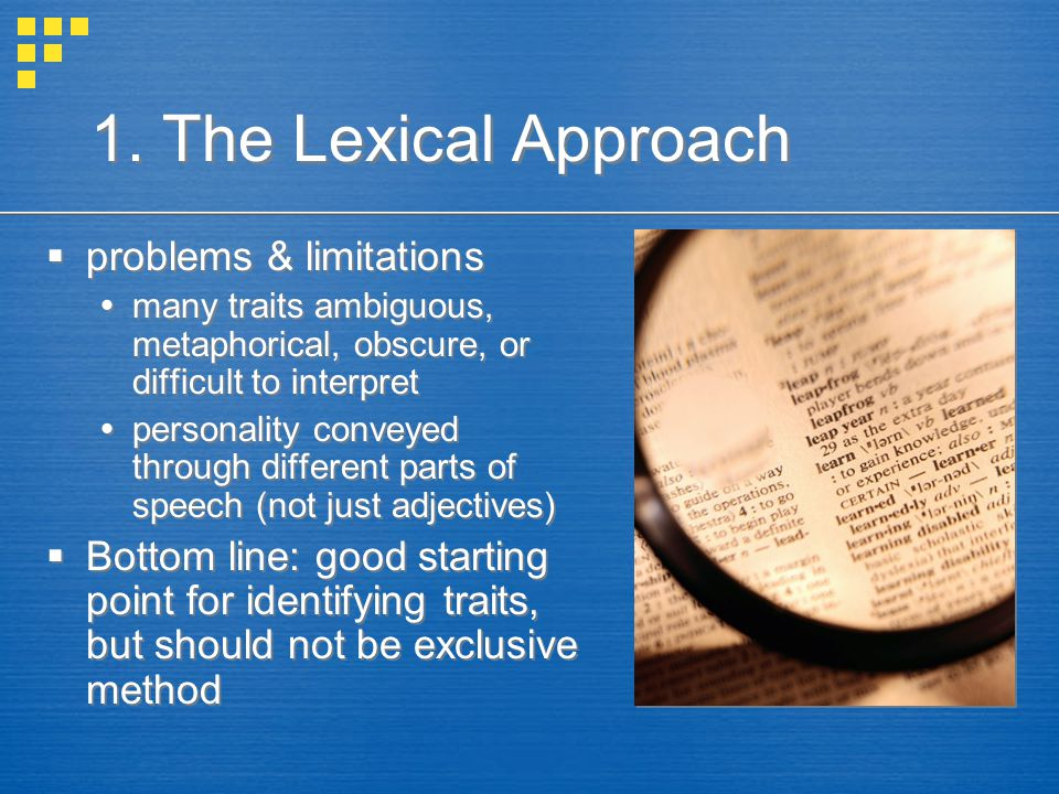 1. The Lexical Approach problems & limitations