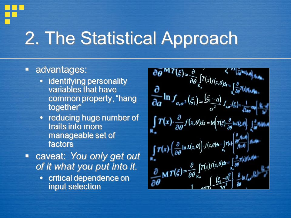 2. The Statistical Approach