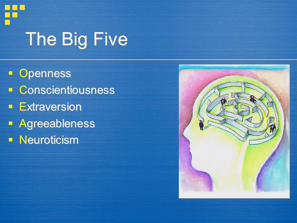 The Big Five Openness Conscientiousness Extraversion Agreeableness