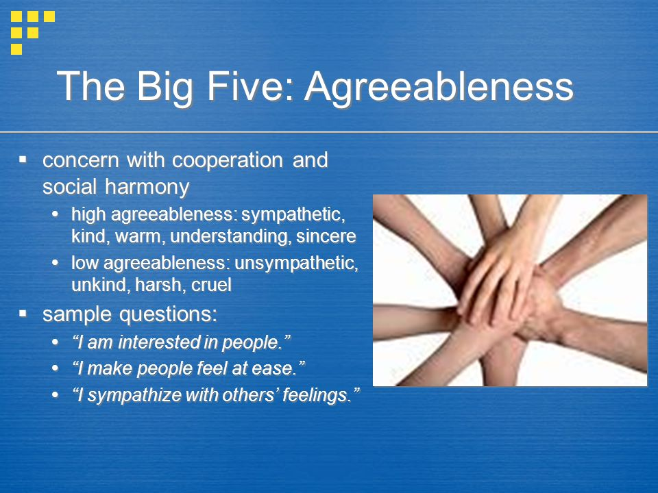 The Big Five: Agreeableness