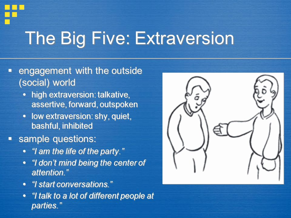 The Big Five: Extraversion