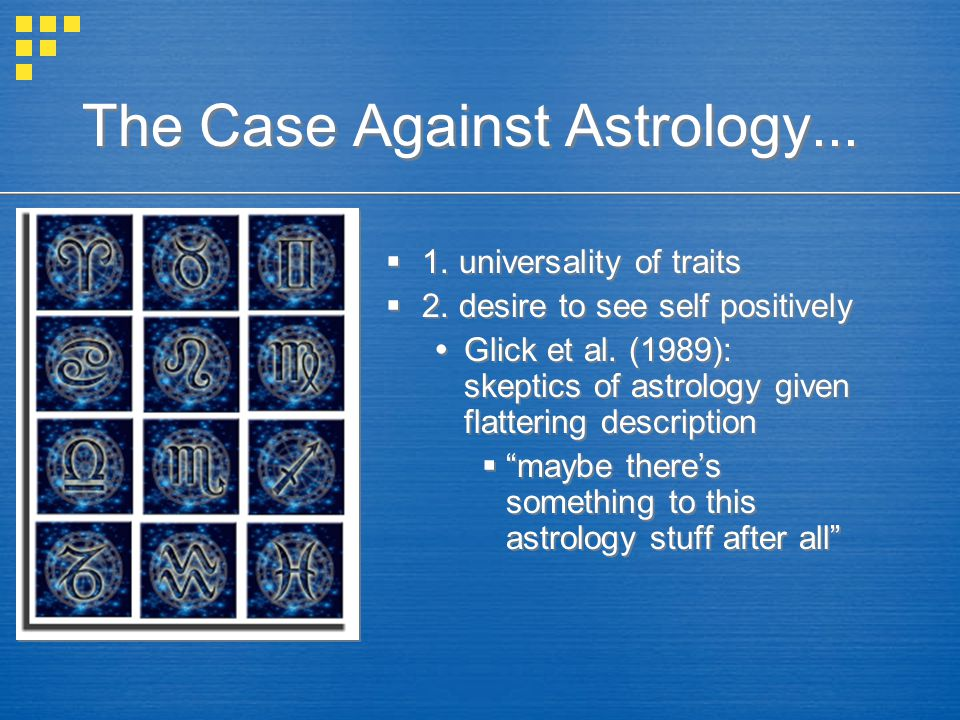 The Case Against Astrology...