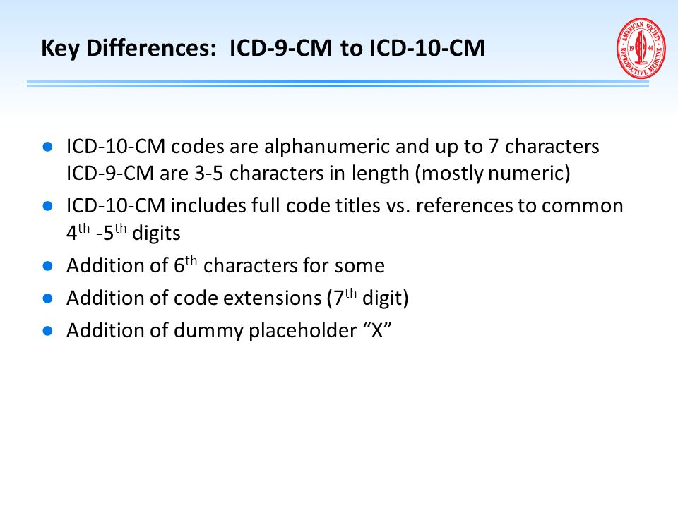 Key Differences: ICD-9-CM to ICD-10-CM