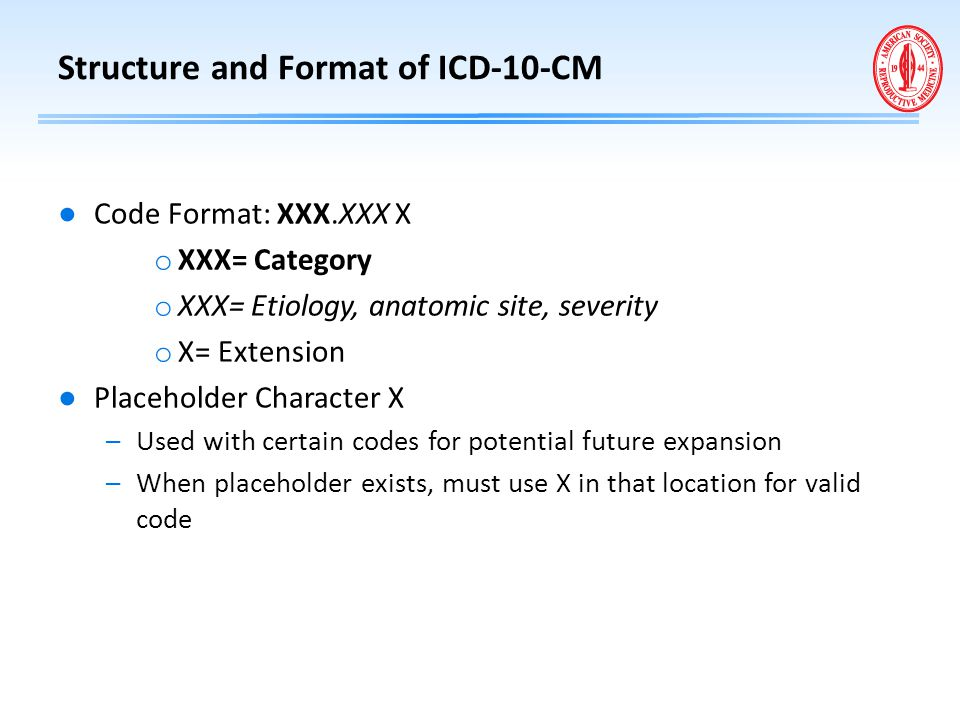 Structure and Format of ICD-10-CM