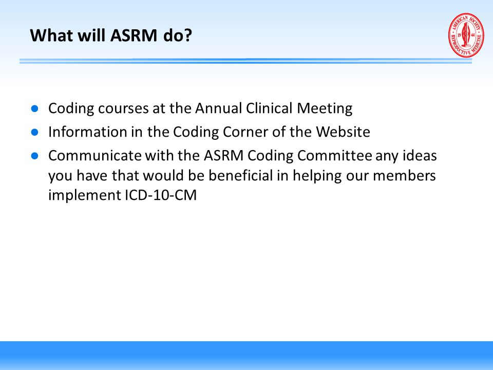 What will ASRM do Coding courses at the Annual Clinical Meeting
