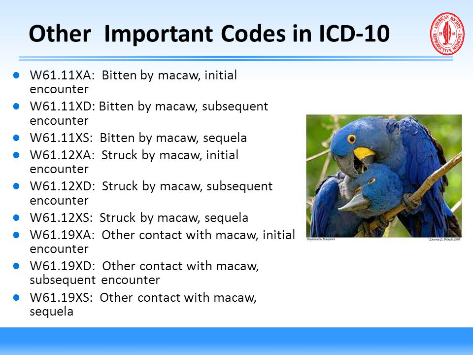 Other Important Codes in ICD-10