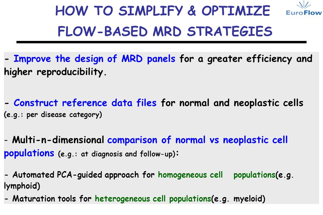 HOW TO SIMPLIFY & OPTIMIZE FLOW-BASED MRD STRATEGIES