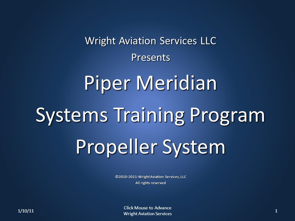 Systems Training Program Propeller System