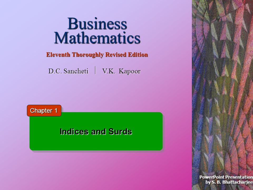 Business Mathematics Eleventh Thoroughly Revised Edition