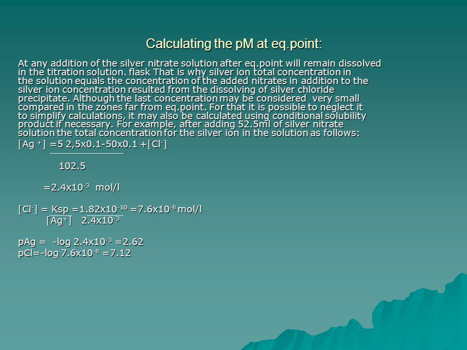 Calculating the pM at eq.point: