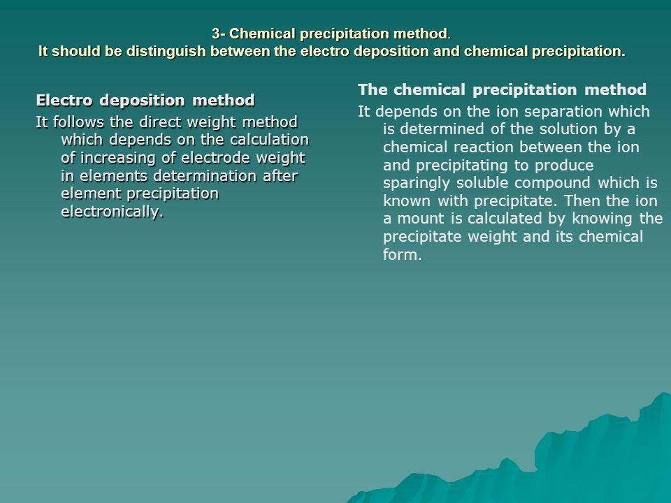 3- Chemical precipitation method