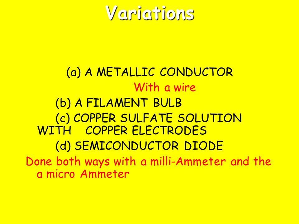 (a) A METALLIC CONDUCTOR