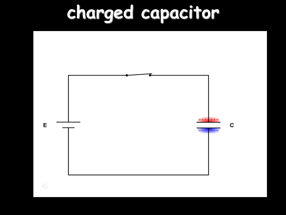 charged capacitor 'right click' on the switch for action (or lack of it in this case)