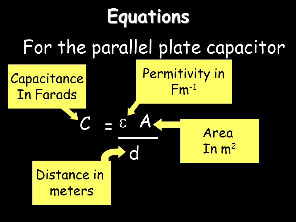 For the parallel plate capacitor