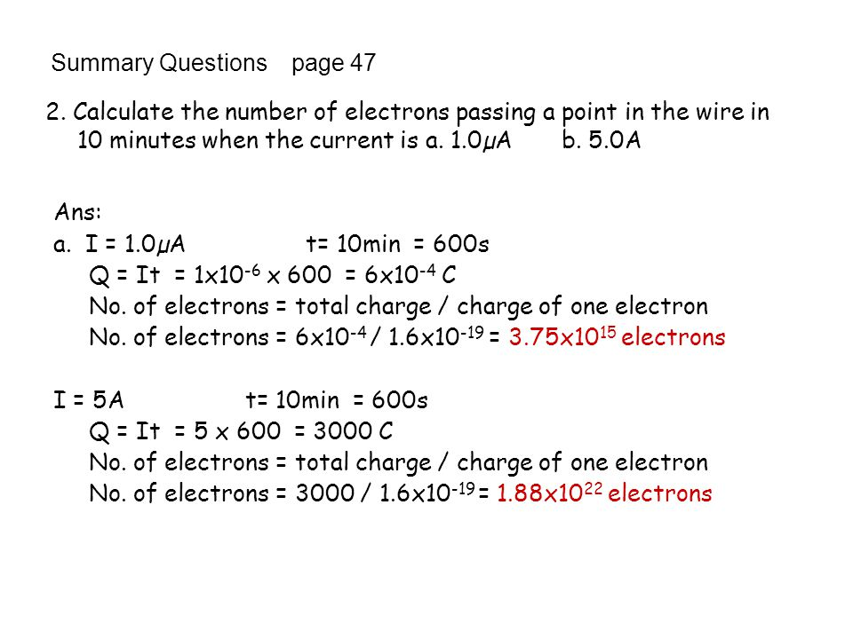 Summary Questions page 47
