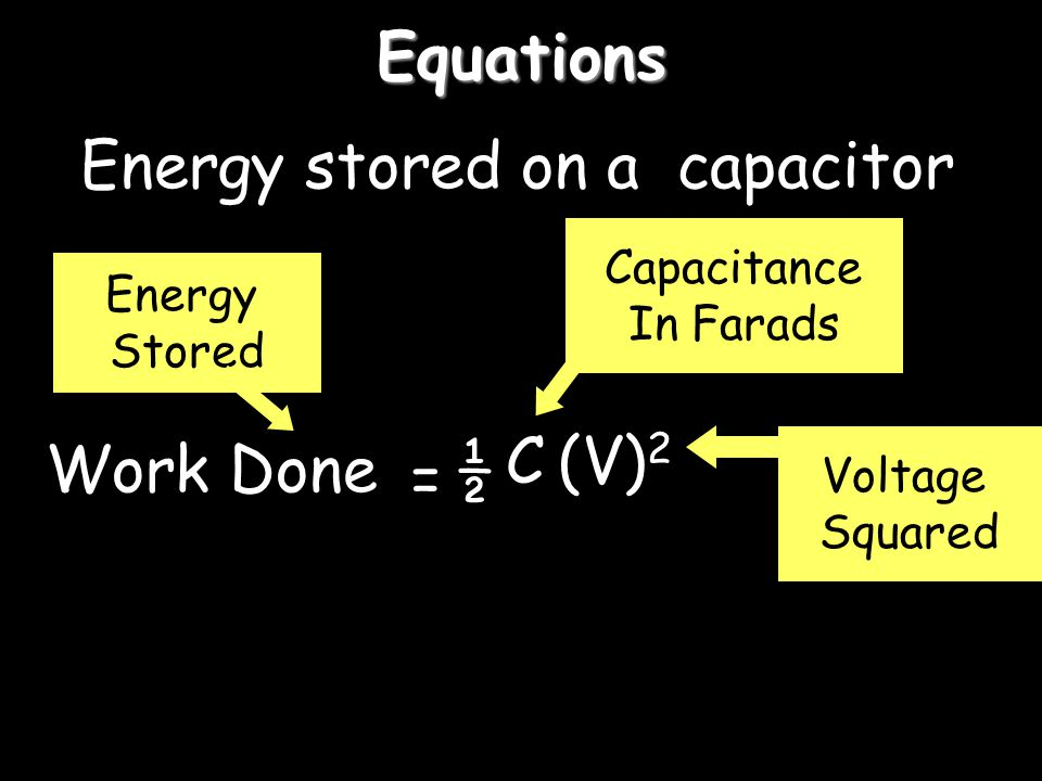 Energy stored on a capacitor