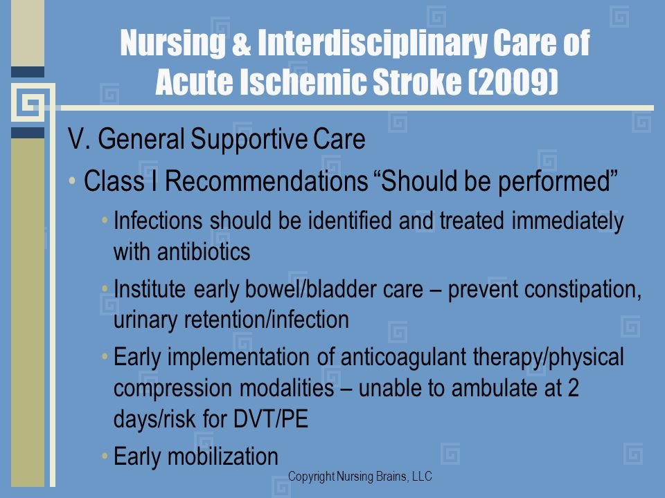 Nursing & Interdisciplinary Care of Acute Ischemic Stroke (2009)