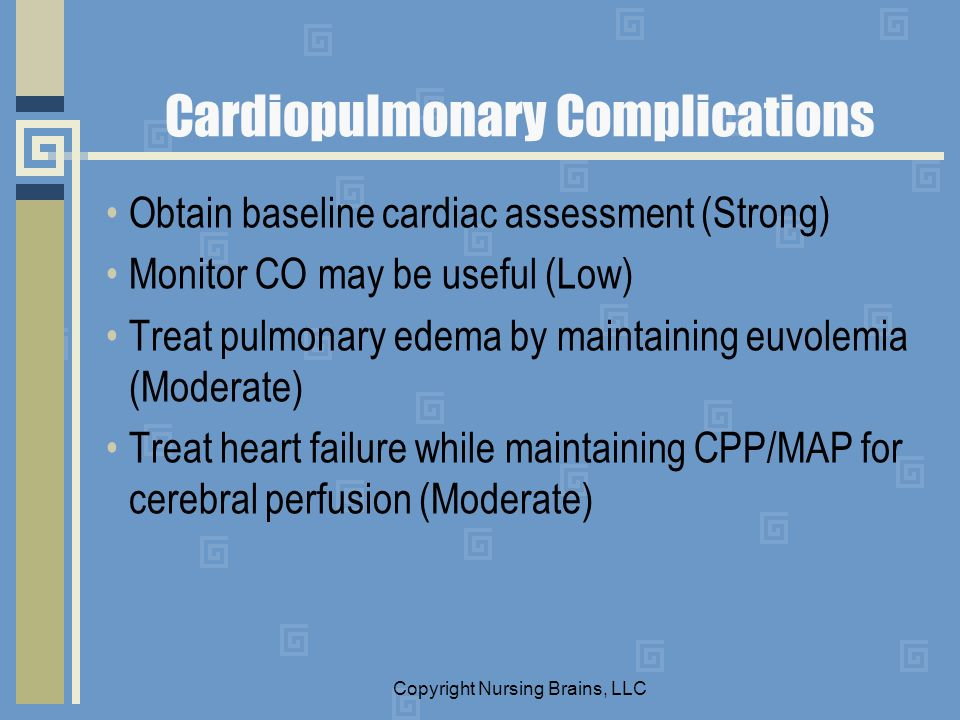 Cardiopulmonary Complications