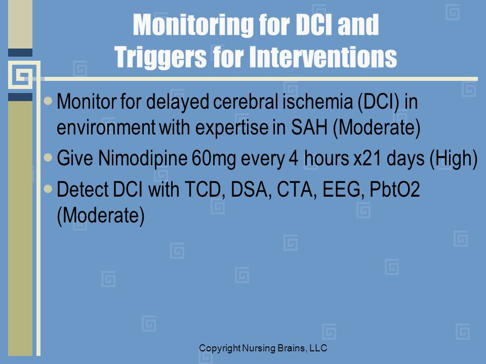 Monitoring for DCI and Triggers for Interventions