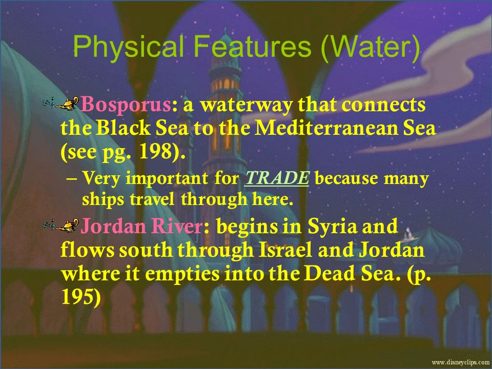 Physical Features (Water)