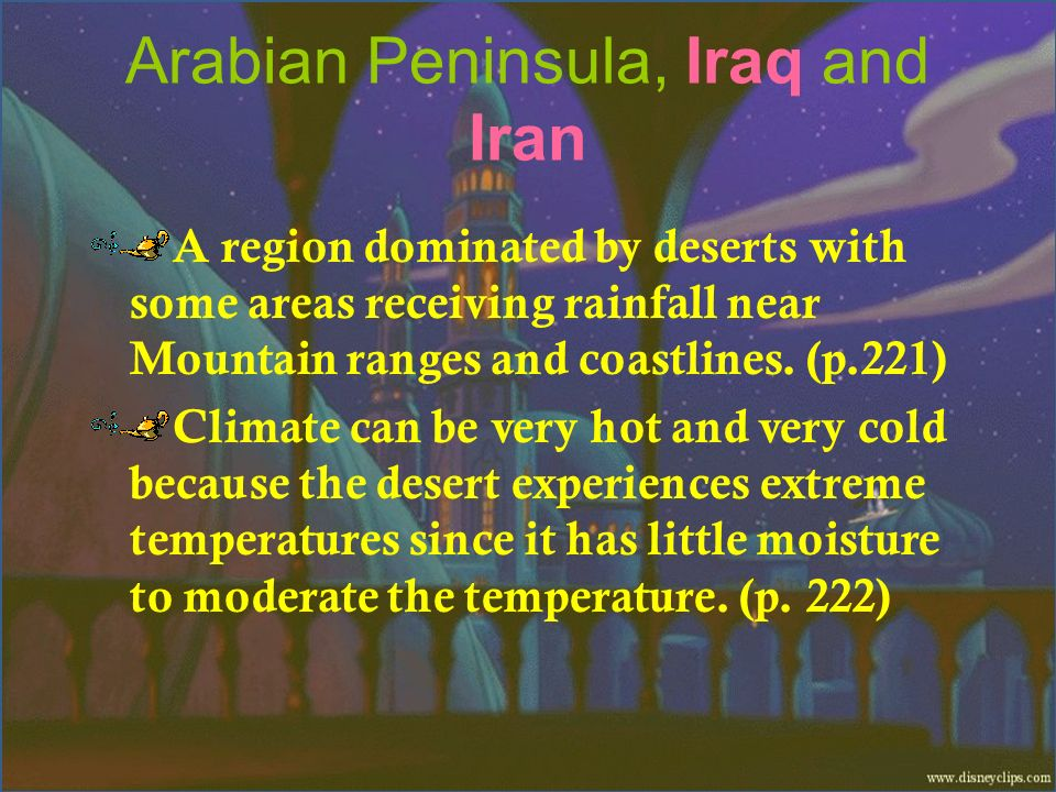 Arabian Peninsula, Iraq and Iran