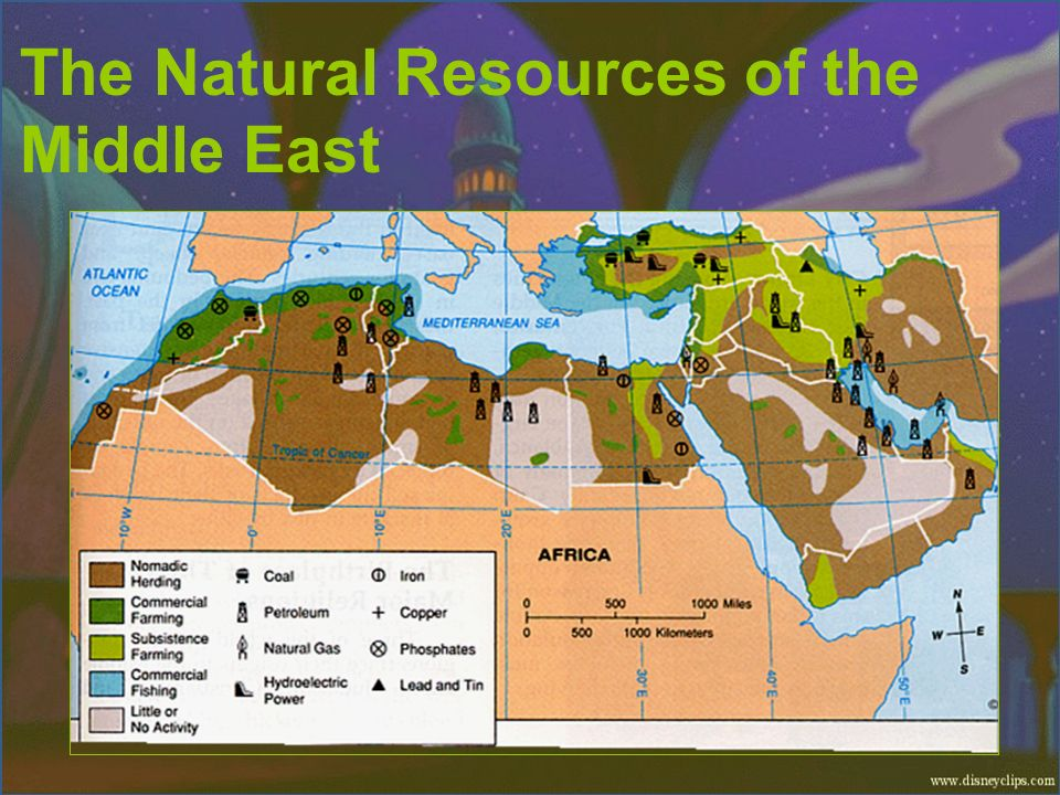 The Natural Resources of the Middle East