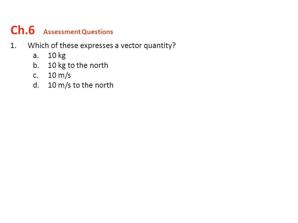 Ch.6 Assessment Questions