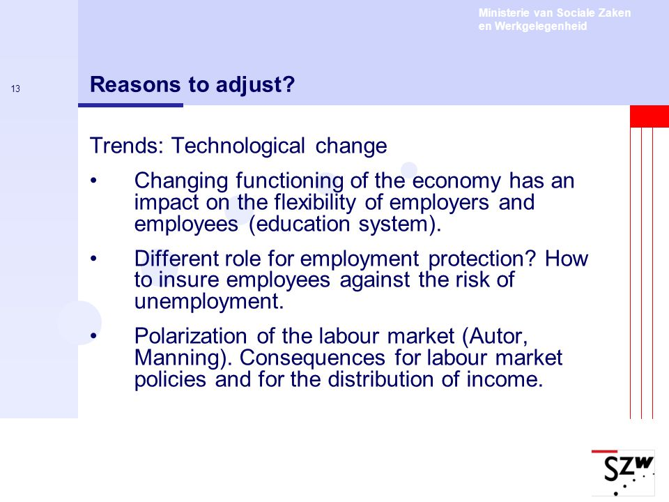 Reasons to adjust Trends: Technological change.