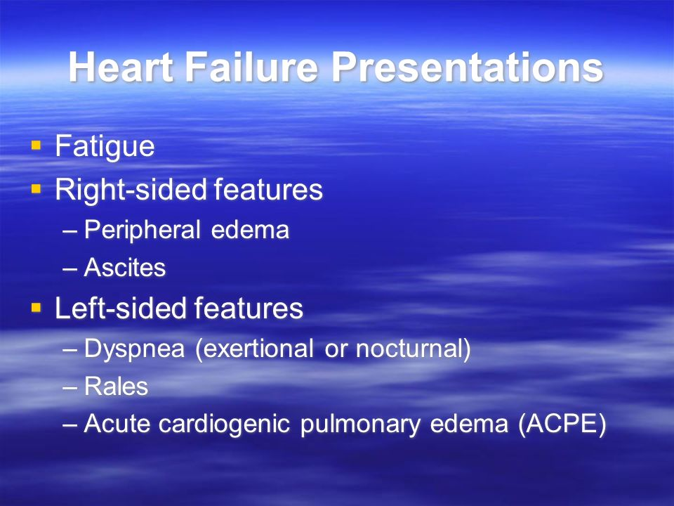 Heart Failure Presentations