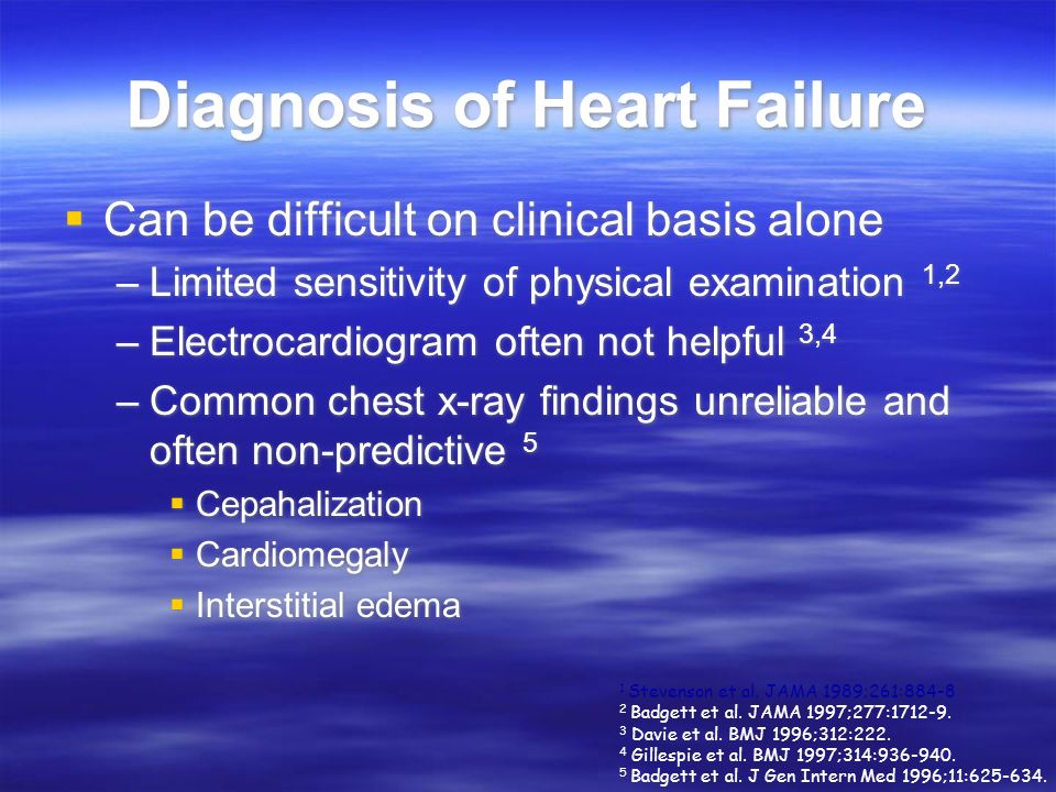 Diagnosis of Heart Failure