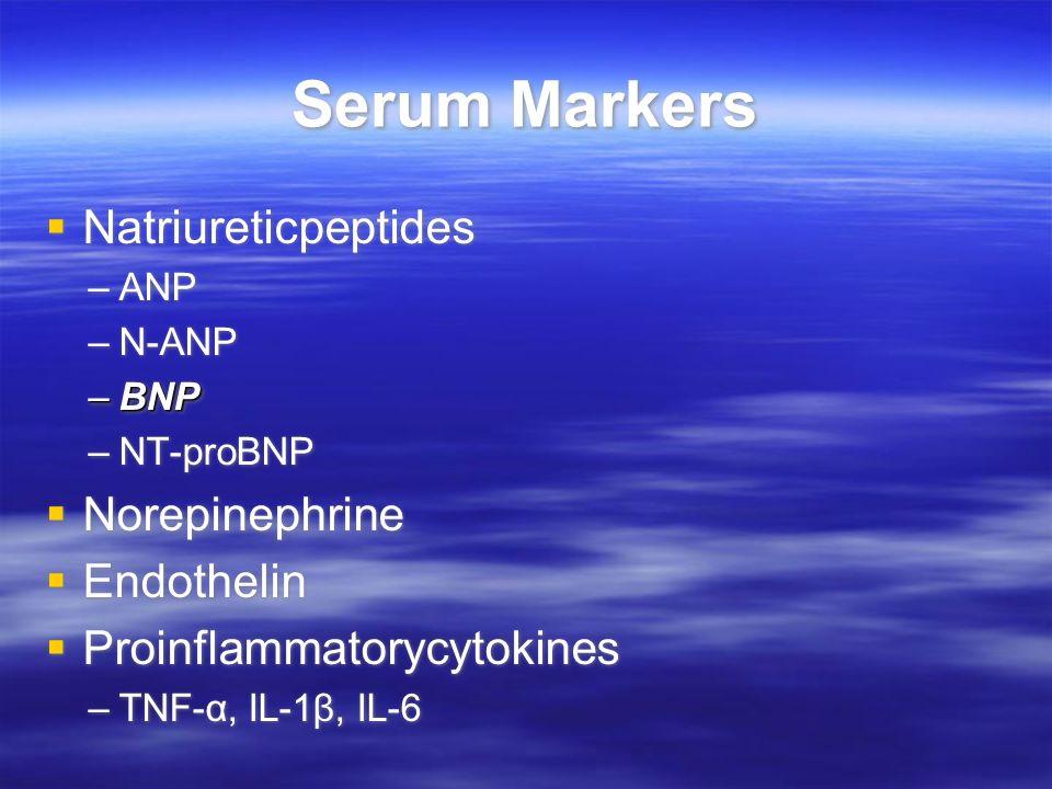 Serum Markers Natriureticpeptides Norepinephrine Endothelin
