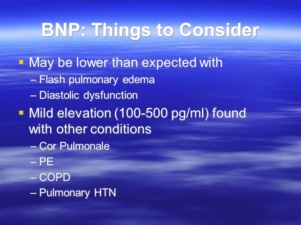 BNP: Things to Consider