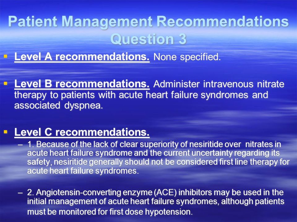 Patient Management Recommendations Question 3