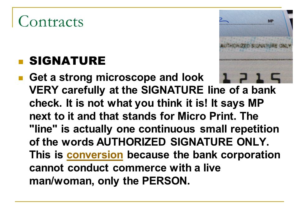Contracts SIGNATURE.