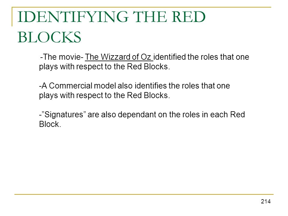IDENTIFYING THE RED BLOCKS