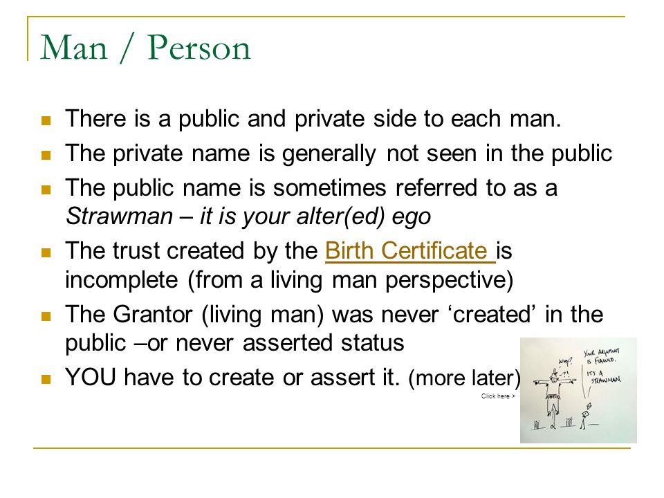 Man / Person There is a public and private side to each man.
