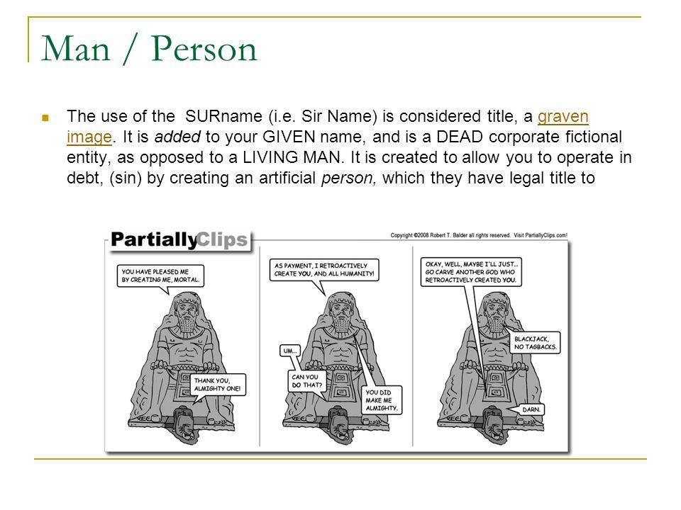 Man / Person