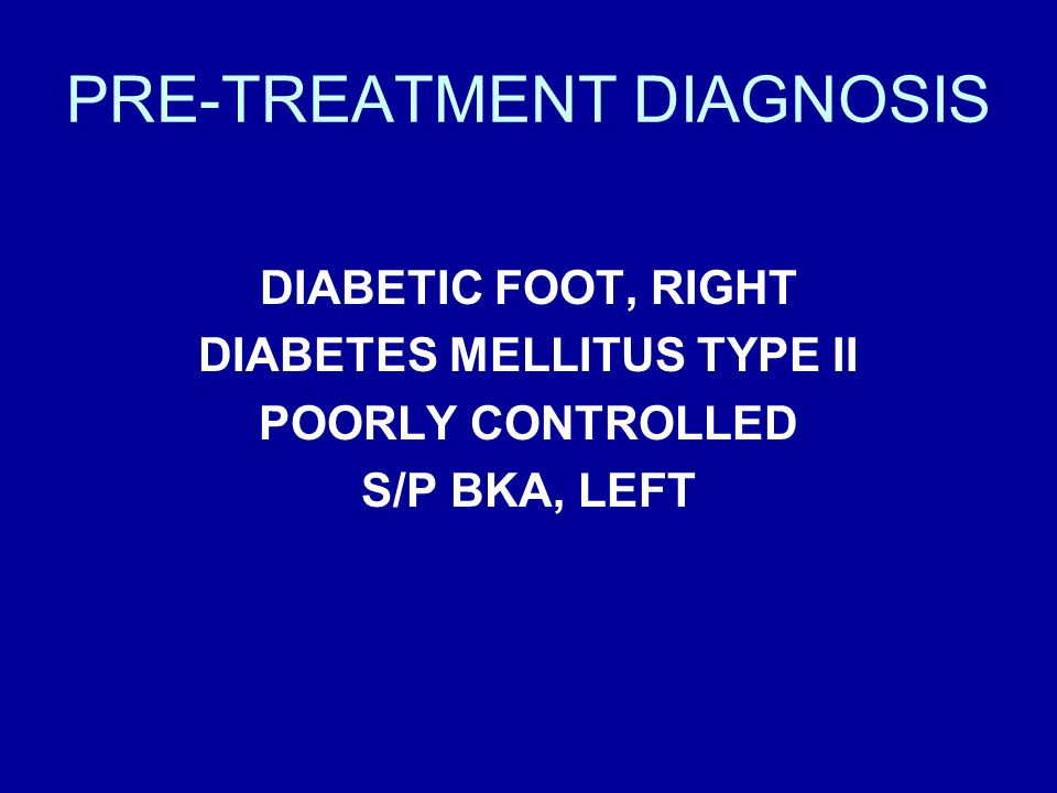 PRE-TREATMENT DIAGNOSIS