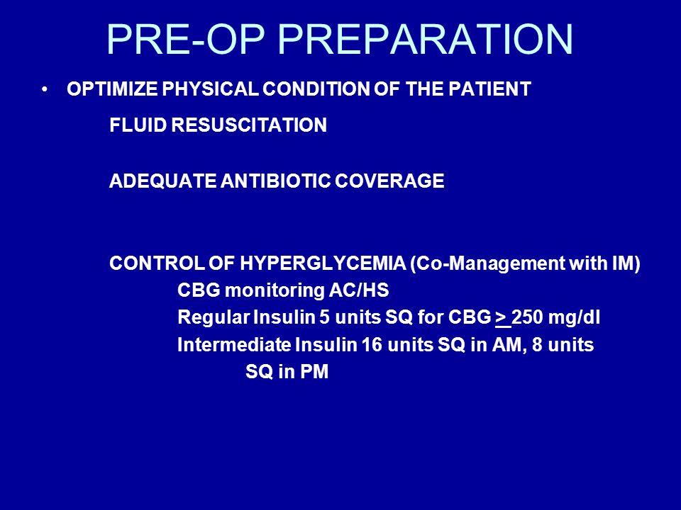 PRE-OP PREPARATION FLUID RESUSCITATION