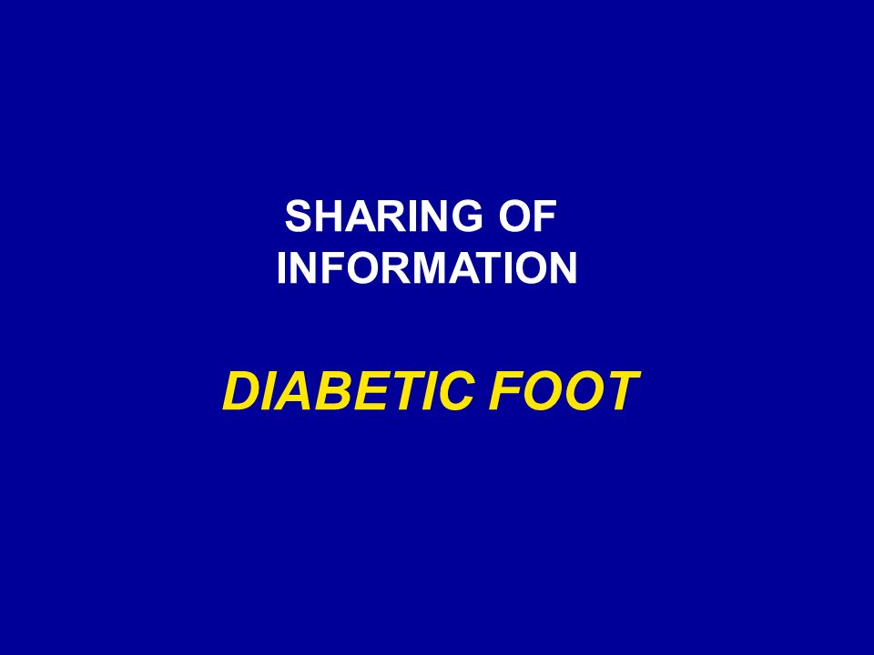 SHARING OF INFORMATION DIABETIC FOOT
