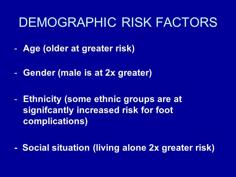 DEMOGRAPHIC RISK FACTORS