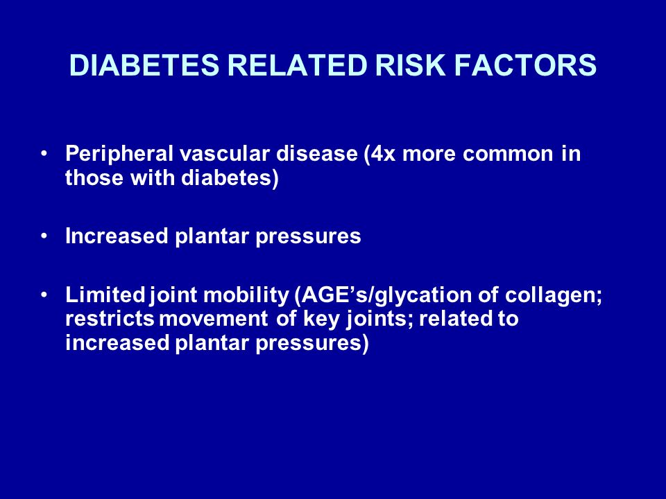 DIABETES RELATED RISK FACTORS