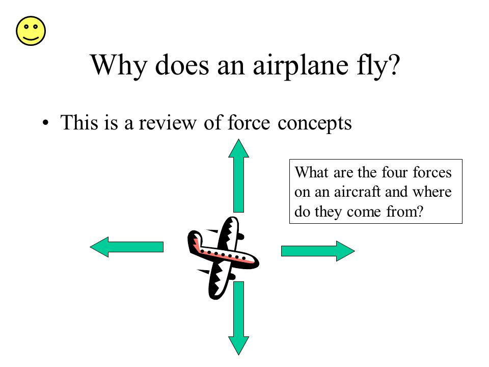 Why does an airplane fly