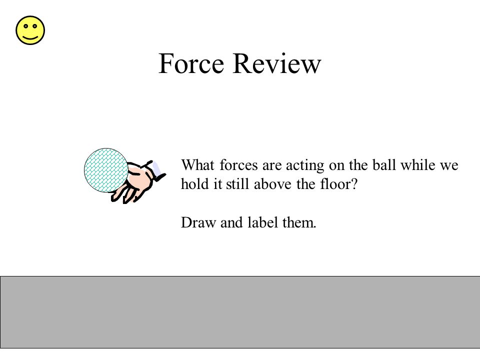 Force Review What forces are acting on the ball while we