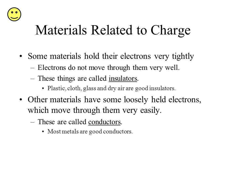 Materials Related to Charge