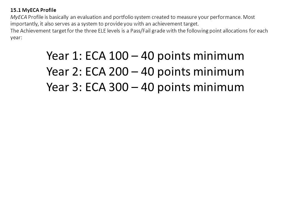 Year 2: ECA 200 – 40 points minimum