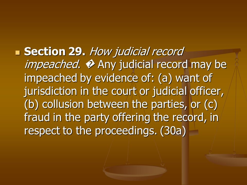 Section 29. How judicial record impeached