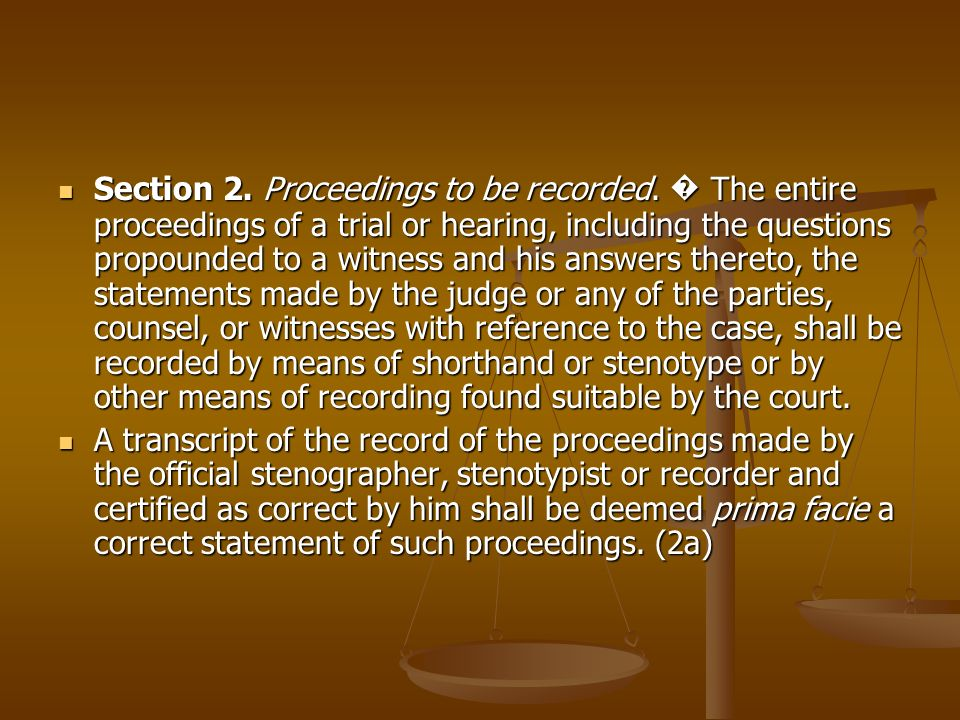 Section 2. Proceedings to be recorded