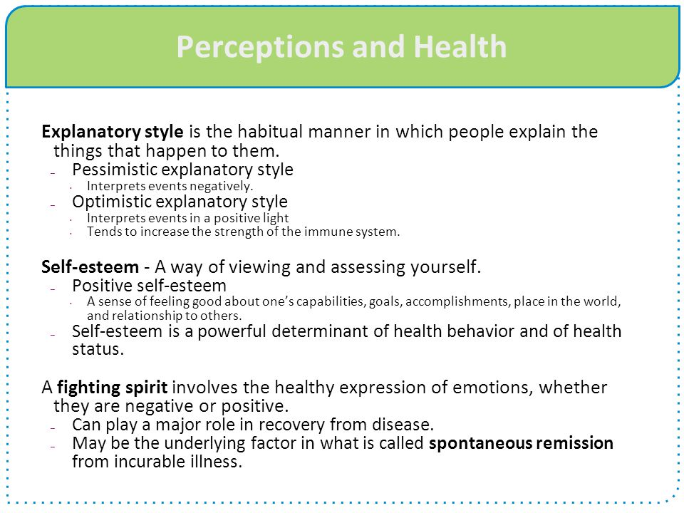 Perceptions and Health
